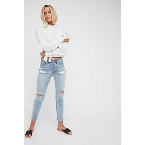HP Free People Lacey button fly distressed jeans